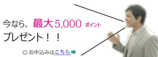 楽天カード新規入会で5000ポイントプレゼント