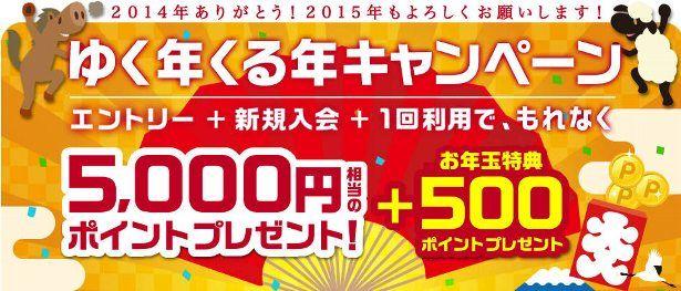 楽天カード、お年玉プレゼント付き新規入会キャンペーン実施中!