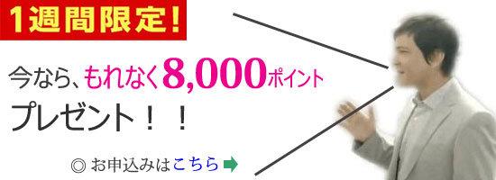 楽天カード☆一週間限定!新規入会&利用で、もれなく8,000ポイント(8,000円相当)プレゼントキャンペーン実施中