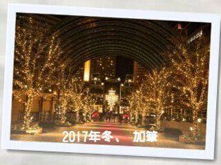 恵比寿ガーデンプレイスでのクリスマスライトアップ画像