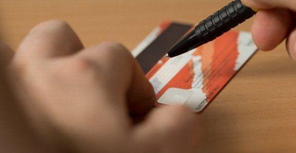 クレジットカードへ署名