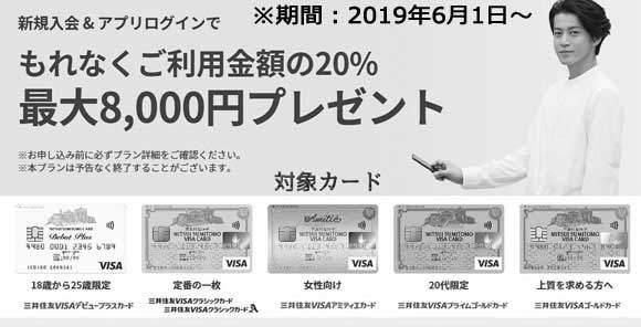 新規入会+Vpassアプリログインでもれなく利用金額の20%(最大8,000円)プレゼントキャンペーン終了のお知らせ