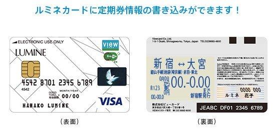 ルミネカードには、定期券機能もついています