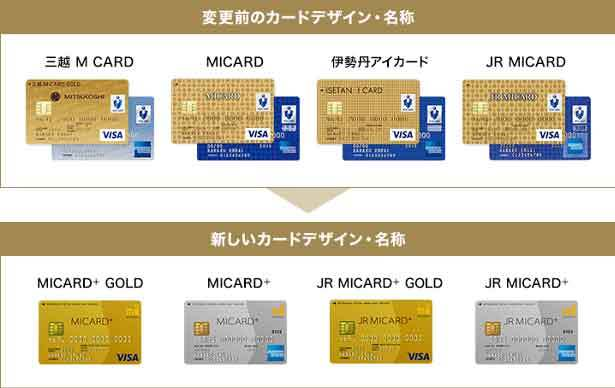 三越 M CARD、MICARD、伊勢丹アイカード、JR MICARDが、「MICARD+」・「JR MICARD+」に変わります