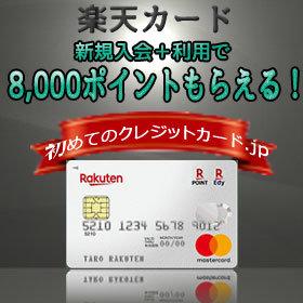 初めての一枚におすすめのクレジットカードランキング2位ー楽天カード