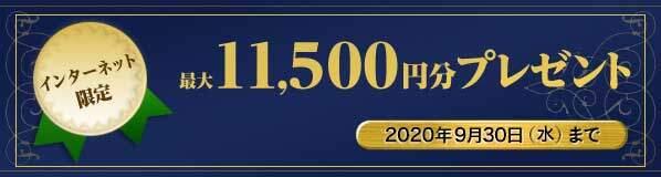 新規入会+利用等で最大11,500円分がもらえるキャンペーン