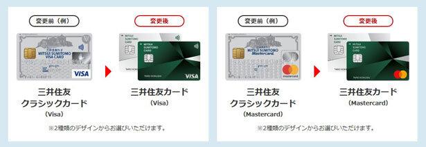 三井住友カードの名称と券面が変更されました