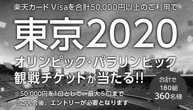 楽天カード Visa利用で当たるキャンペーン一時中断